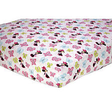 Minnie Mouse Butterfly Charm Crib Sheet by Disney Baby