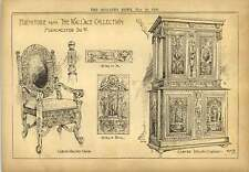 1900 Furniture From The Wallace Collection Manchester Chair Cabinet Panel