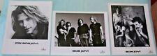 Vintage 1995 JON BON JOVI Press Photo Lot of 3 Rock Band 8 x 10