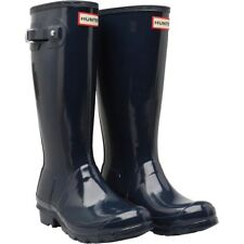 Ladies/ Girls Hunter Wellies Size 4,EU37,Navy Gloss Wellington Boots New Boxed