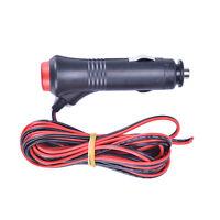 1x 3m 12V 24V Male Car Cigarette Lighter Socket Plug Connector On Off Switch New
