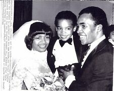 Sugar Ray Leonard  and Wife Wedding   photo archive press  print 2