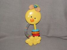 FISHER PRICE C1511 DUCK CHICK RATTLE TEETHER TOY LINK A DOOS CLUTCH PLASTIC