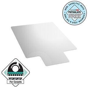 "60"" x 48"" PVC Lipped Chair Mat for Carpet"