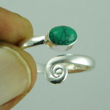 New Look Turquoise 925 Sterling Silver Handmade Toe Ring Adjustable tr-42