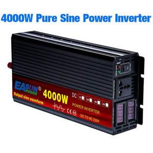 PURE SINE WAVE INVERTER DC 12V 24V AC 110V 220V POWER 2000W 3000W 4000W