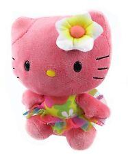 Peluche Hello Kitty Rosa Flor Original de la Marca Ty Sanrio Juguete Niños Kity