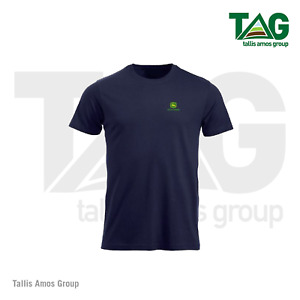 Genuine John Deere Navy T-shirt with logo on front and back - MCS3550001