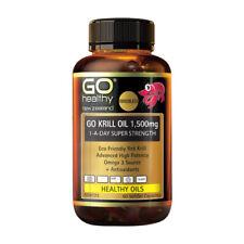 GO HEALTHY Go Krill Oil 1,500mg 1-A-Day Super Strength 60 SoftGel Capsules