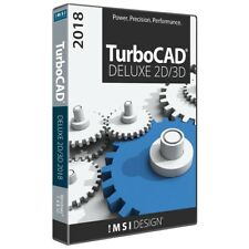 TurboCAD Deluxe 2018 CAD Design Software DVD