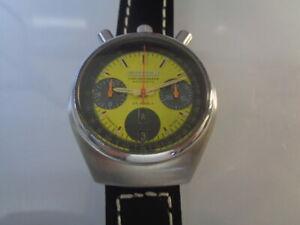 Citizen Chronograph Mens Watch Day & Date Auto 8110 Bullhead Yellow Dial Kanji