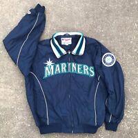 Seattle Mariners MLB Baseball FLEECE LINED Coat Majestic Authentic Jacket Ichiro