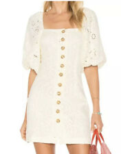 Free People Daniella Cream Night Out Dress With Buttons Size 12 MSRP 148