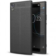 Sony Xperia XA1 Hülle Leder Look Handy Hülle von NALIA Silikon Cover Case Schutz