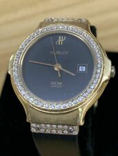 Hublot MDM Geneve 18K Solid Gold Diamond Bezel Wrist Watch #75-12