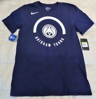 NIKE BYU Basketball T-Shirt -Blue -Adult Size Small -MSRP $26 -New w/Tags