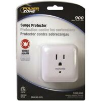 POWER ZONE OR802105 Surge 1 Outlet 900J Tap and Alarm