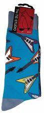 Flying V Forma Guitarra Eléctrica En Azul Unisex Novedad Tobillo Calcetines Size