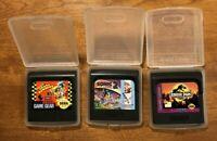 SEGA Game Gear 3 Game Lot Crash Dummies Sonic 2 Tales Jurassic Park - VGC TESTED