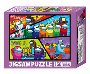 """AMONG US Jigsaw Puzzle 150 Pieces Kids Gift 11.2"""" x 8.2"""" / 28.5 x 21 cm"""