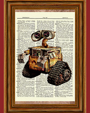 Wall-E Dictionary Art Print Poster Picture Walt Disney Wall E Gift