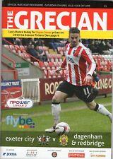 Exeter City V Dagenham & Redbridge Programme 2013-14