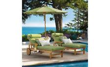 Sack 100% Teak Armless Chaise Lounger Outdoor Garden Patio Steamer Chair Sun New