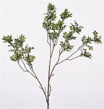 Flores secas y artificiales decorativas arbustos color principal verde para el hogar