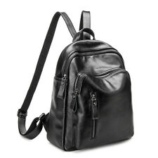 Women's Backpack Natural Soft Genuine Cow Leather Cowhide Backpack School Bags