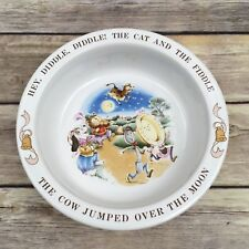 "Vintage Avon 1984 Baby's Keepsake Bowl ""Hey, Diddle, Diddle!"" Ceramic"