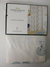 Threshold Block Print Medallion Fabric Shower Curtain Blue 72x72 new