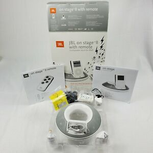 JBL On Stage II iPod Docking Station Speaker With Remote White New Open Box