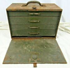 Vintage Asco Art Steel Usa 4 Drawer Machinist Parts Tools Chest