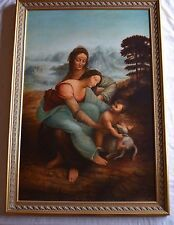 Large Old master copy from Louvre very fine painting & framing by Maria Castro