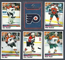 1990-91 Panini NHL Philadelphia Flyers Team Set, Hextall, Tocchet, etc...(15)