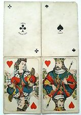 More details for antique playing cards daveluy bruges 32 card 1868 square handcut + hand coloured