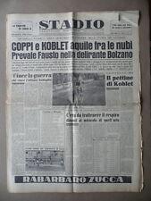 Stadio Coppi Koblet Ciclismo Giro Italia Pordoi Bolzano Dolomiti Sport 1953
