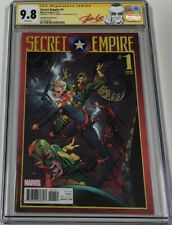 Secret Empire #1 Captain Marvel Variant Signed by Stan Lee & Campbell CGC 9.8 SS
