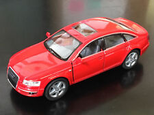 "New 5"" Kinsmart Audi A6 Diecast Model Toy Car 1:38 Scale Pull Action Red"