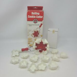 Vintage NORPRO Rolling Cookie Cutter with 18 Changeable Shapes in box