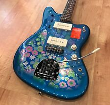 Fender 60th Anniversary Limited Edition Jazzmaster Electric Guitar Blue Flower