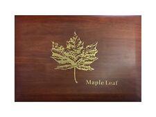 Maple Leaf Münzbox / Box/Kassette für 40x 1 Oz Silbermünzen Silber/Silver Holz