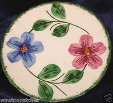 """BLUE RIDGE SOUTHERN POTTERIES NORMA BREAD BUTTER PLATE 6 1/4"""" PINK BLUE FLOWERS"""