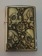 Vintage ZIPPO Gothic Skulls Lighter, circa 1996