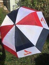 Totes Cardinals Mlb Team Golf Umbrella w/Protective Sheath, Double Canopy