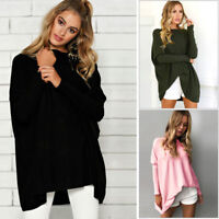 Women Blouse Long Sleeve T Shirt Casual Loose Short Dress Tops Outwear CHK