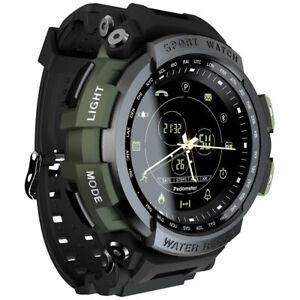 Mens Waterproof Smart Watch Military Grade Bracelet Outdoor Sport Watch Black
