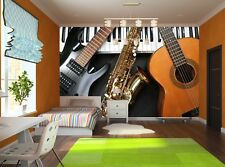 Musical Instruments Photo Wallpaper Wall Mural DECOR Paper Poster Free Paste