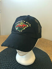 Minnesota Wild Logo Hat Official NHL Canadian Plastic Snapback Closure Mesh
