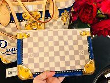 CAPRI Louis Vuitton Wristlet Damier BLUE Pouch Pochette Clutch Bag Barsetka NEW